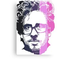 Tim Burton in stripes! Canvas Print