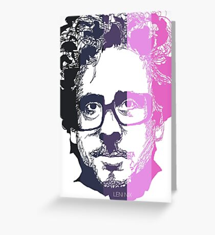 Tim Burton in stripes! Greeting Card