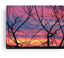 Colorful December Evening Canvas Print