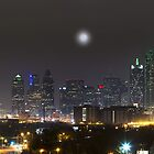 The Dallas Skyline on a Foggy Evening 1 by RobGreebonPhoto