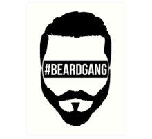 #BeardGang Half Beard Art Print