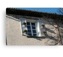Lovely window in the sun Canvas Print