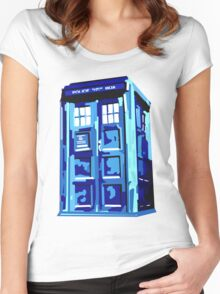 TARDIS Women's Fitted Scoop T-Shirt