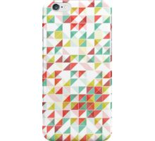 Retro Colorful Abstract Geometric Triangles Pattern iPhone Case/Skin