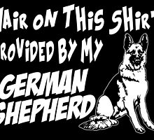 hair on this shirt provided by my german shepherd by tdesignz