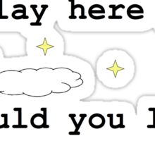Chasing Cars Quote Sticker