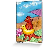 Beach Dragon Greeting Card