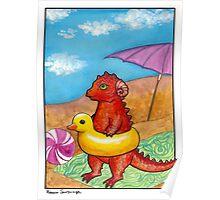 Beach Dragon Poster