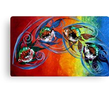 COLORFUL, ABSTRACT FISH !!  FUN, Whimsical, UNIQUE, Original. Canvas Print