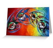 COLORFUL, ABSTRACT FISH !!  FUN, Whimsical, UNIQUE, Original. Greeting Card