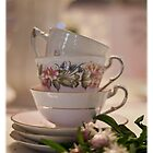 Tea Cups Still Life  by Sandra Foster
