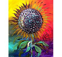 SUNFLOWER Abstract, Colorful, Whimsical, Vivid ART from J. Vincent !! NICE, MUST SEE Photographic Print