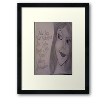 little mermaid vanessa Framed Print