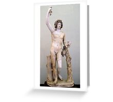 Dionysus Greeting Card