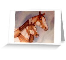 Pastel Pintos Greeting Card