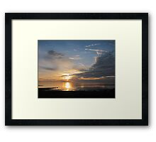 Sunset at Crescent Beach, Surrey, British Columbia Framed Print