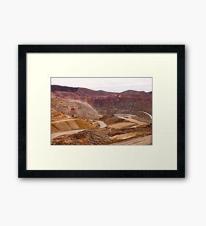 Santa Rita Copper Mine Framed Print