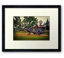 Threshing Machine Framed Print