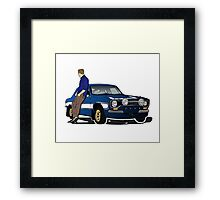 Paul Walker interpretation art - Fast Furious 7 Framed Print
