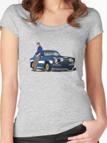 Paul Walker interpretation art - Fast Furious 7 Women's Fitted Scoop T-Shirt