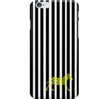 zebra monochrome iPhone Case/Skin