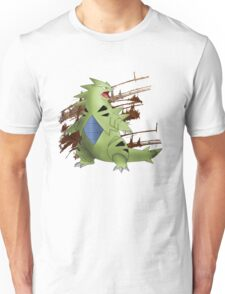 Tyranitar with Brown Rocky Scratches Unisex T-Shirt
