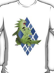 Tyranitar with Blue Diamond Pattern T-Shirt