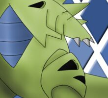Tyranitar with Blue Diamond Pattern Sticker