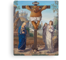CruciTeddy - Teddy of the Angels, King of the Teddy Bears Canvas Print