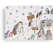 Snow Penguin Canvas Print