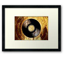 Vintage Vinyl Record Rust Texture - RETRO MUSIC DJ! Framed Print
