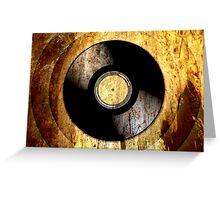 Vintage Vinyl Record Rust Texture - RETRO MUSIC DJ! Greeting Card