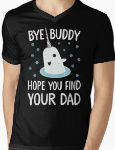 The Elf - Bye Buddy Hope You Find Your Dad! Mens V-Neck T-Shirt