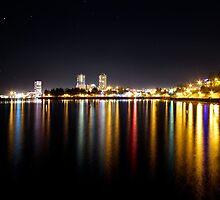 Nanaimo Waterfront at Night by rsangsterkelly