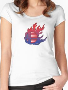 Super Smash Bros America Women's Fitted Scoop T-Shirt