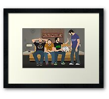 Tabletop: Wil Wheaton on the Couch Framed Print