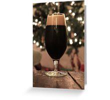 Stout at Christmas Greeting Card