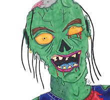 Zombie Drawing by Robert  Taylor