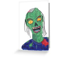 Zombie Drawing Greeting Card