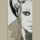 Portrait on Cardboard iphone cover. by Sara Riches
