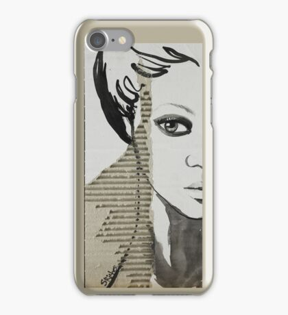Portrait on Cardboard iphone cover. iPhone Case/Skin