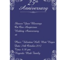 25Th Anniversary Invitation Cards by sudomark3