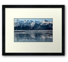 Alaska ............ice lake  Framed Print
