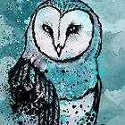 Owl Tee Coloured by Aleksandra Kurczewska