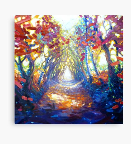 woodland path to somewhere wonderful Canvas Print