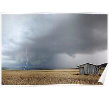 """""""Pilton Valley lightning strike""""  Poster"""