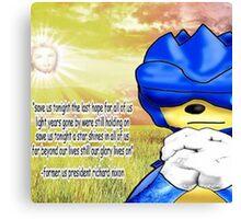 pray sonic pray Canvas Print