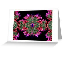 Fractal Symmetry Greeting Card