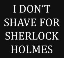 Shave for Sherlock (white) Kids Clothes