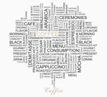 Words Associated With Coffee  Kids Tee